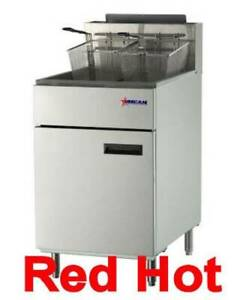 Omcan 43298 Floor 70 Lb Deep Fat Propane Gas Fryer 150 000 Btu Tube Fired