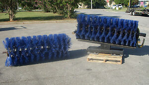 Bobcat Skid Steer Attachment 72 Manual Angle Sweeper Extra Broom Free Ship