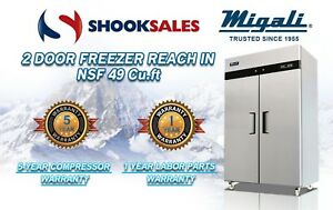 Migali C 2f 2 Door Freezer Reach In Nsf49 Cu ft To Commercial Address