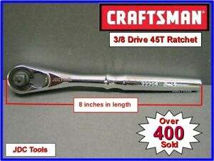 New Craftsman Hand Tools 3 8 Drive Quick Release Ratchet Socket Wrench 45t