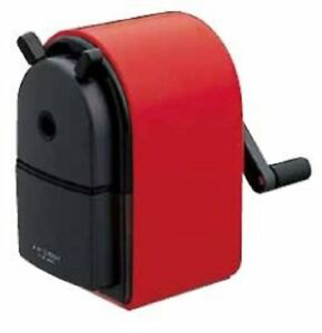 Uni Kh 20 Hand Crank Wooden Pencil Sharpener Red F s W tracking Japan New
