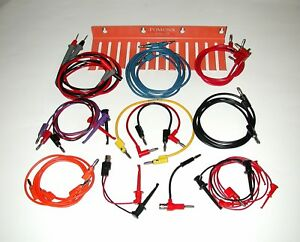Lot Of 22 Pomona Patch Cords Lead Holder And Fluke Test Probes