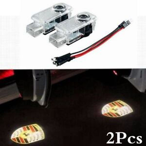 2pcs Led Door Courtesy Laser Shadow Projector Light 2003 2006 Porsche Cayenne