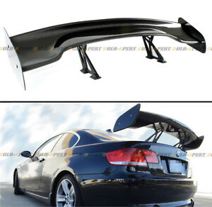57 Inch Carbon Fiber Adjustable Gt style Race Track Rear Trunk Lid Spoiler Wing
