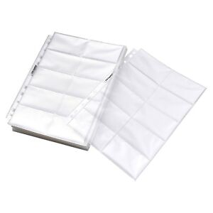 Card Pages Sheets Double Sided Economy Clear Protector Box Business Supplies