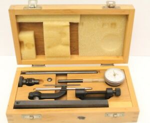 Baker Universal Dial Test Indicator Set 0 001 0 10 Type A52 With Org Wood Case