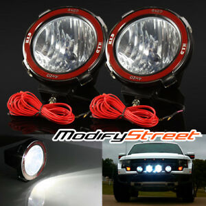 2pc 7 Inch 55w Hid Xenon Offroad Driving Flood Lights Work Search Outdoor Lamps