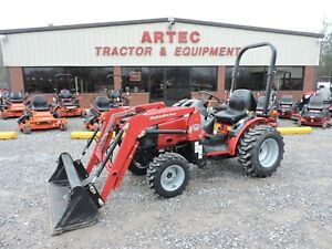 2014 Mahindra Max 28 Tractor With Loader 4wd Kubota Good Condition