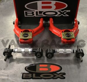 Blox Red Competition Front Blox Rear Camber Kit Combo For Honda Civic 96 00 Ek