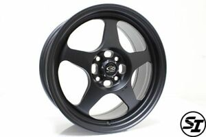 Rota Slipstream Wheels 16x7 40 4x108 63 35 Hb Black For F Ord Focus Fiesta Rims