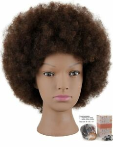 Mannequin Head African American With 100 Human Afro Hair Cosmetology No Tax