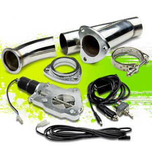 2 25 57mm Electric Exhaust Catback Cutout E Cut Out W Switch Valve System Kit