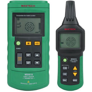 Mastech Ms6818 Pipe Locator Detector Network Telephone Cable Tester Tracker