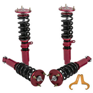 Racing Coilovers For Bmw 5 Series E60 Sedan 2004 2010 Adj Height Struts Red