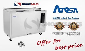 Atosa Mbc50 Commercial Restaurant Back Bar Coolers