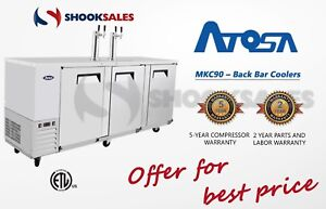Shooksales Los Angeles Atosa Mkc90 Commercial Restaurant Back Bar Coolers Ss