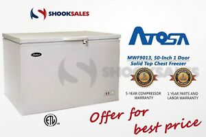 Shooksales Atlanta Atosa Mwf9013 Commercial 50 1 Door Solid Top Chest Freezer