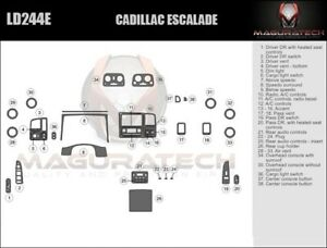 Fits Cadillac Escalade 2003 2006 Large Deluxe Wood Dash Trim Kit