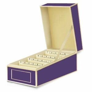 New Semikolon Business Card File Box Dividers A To Z Plum 3230018 Free Shipping