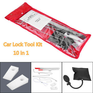 12pcs Car Door Key Lock Out Emergency Opening Unlock Tools Kit Air Pump Wedge