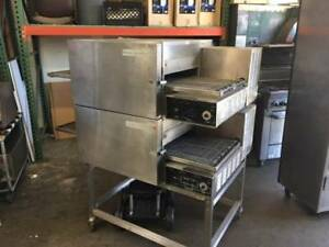 S1258 Lincoln 1132 Double Stack Electric Conveyor Oven 208 Volt 3 Phase
