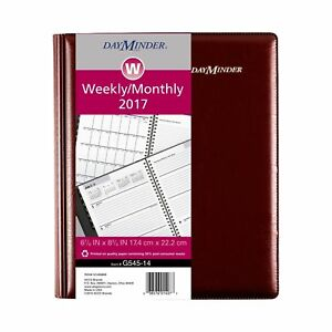 Dayminder Weekly Monthly Planner 2017 Executive 6 7 8 X 8 3 4 Burgundy