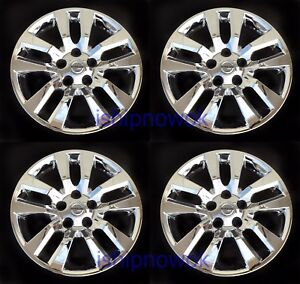 Set 4pcs Hubcap Wheelcover Fits 2013 2017 Nissan Altima 16 10 Spoke Chrome