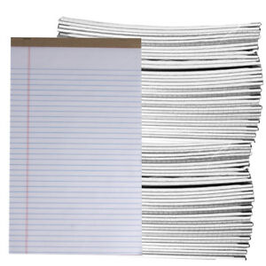 72ct Assorted 50pg Legal Pad Perforated Wide letter Ruled Writing Paper Bulk Lot