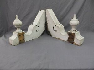 Antique Shabby Wood Victorian Corbels Roof Brackets Vintage Country Chic 294 18p
