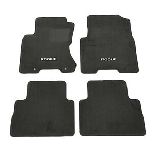 2008 2013 Nissan Rogue Black Carpeted Floor Mats Front Rear Set Of 4 Oem New