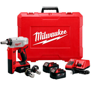Milwaukee 2632 22xc M18 18 volt Propex Expansion Tool W Batteries
