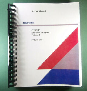 Tektronix 492 492p Service Manual Vol 2 W 11x17 Foldouts Protective Covers