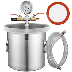 2 Gallon New Vacuum Chamber Stainless Steel Degassing Urethanes Silicone Epoxies