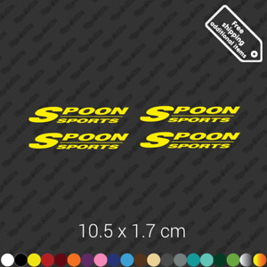X4 Spoon Sports Wheel Rims Sticker Slipstream Rota Restoration Decal Kit Yellow
