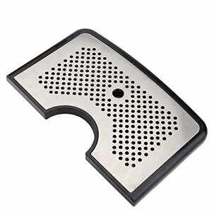 Beer Drip Tray Stainless Surface No Drain With Cutout For Kegerator Towers B