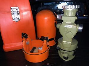 Wild T1 Theodolite Heerbrugg Switzerland With Gyro Mounting And Transit Case