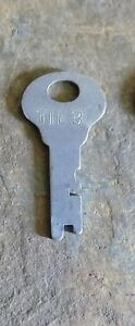 Antique Steamer Trunk Key Corbin Tte3 Flat Steel Corbin Trunk Key Tte3