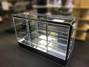 Sgc5 5 Full Vision Retail Glass Display Case W Mirror Doors N Mirror Bottom