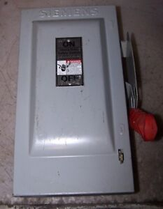 Siemens 30 Amp Fused Safety Switch 600 Vac 20 Hp 3 Phase Hf361