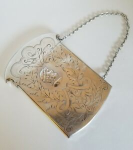 Victorian Sterling Silver Card Holder Purse