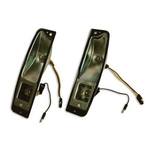 1966 1977 Ford Bronco Tail Light Buckets Pair free 1 3 Day Shipping