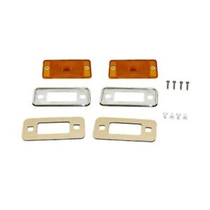 1970 1977 Ford Bronco Amber Side Marker Kit Free 1 3 Day Shipping