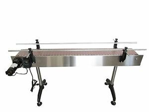 New Conveyor 10 X 4 With Plastic Table Top Belt stainless Steel made In Usa