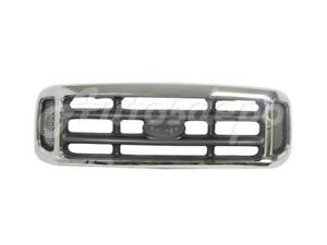 For Ford F250 F350 F450 F550 Super Duty 1999 2004 Grille Chrome gray