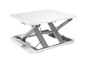 Zeal Height Adjustable Sit To Stand Up Laptop Table Computer Workstation Desk