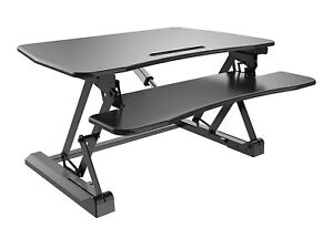 Zeal Electric Auto Height Adjustable Sit To Stand Up Laptop Table Computer Desk