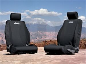 2013 2018 Jeep Wrangler Jk Black Front Seat Covers Mopar Genuine Oem Brand New