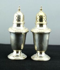Gorham Sterling Silver Salt Pepper Shakers Gold Wash Top 759 Not Weighted