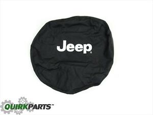 2002 2007 Jeep Liberty Tire Cover W White Jeep Logo Mopar Genuine Oem 82206926