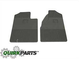 2005 2008 Dodge Ram 1500 Dark Khaki Front Rubber Slush Floor Mats Oem New Mopar